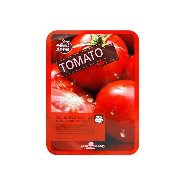 Осветляющая тканевая маска для лица с томатом May Island Real Essence Tomato Mask Pack  25 мл