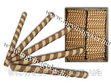 Вафельная трубочка полосатая сладкая 550шт -2кг/упаковка