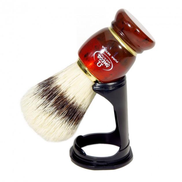 Помазок для бритья с подставкой Omega  81151