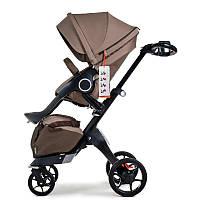 Детская коляска DSLandXplory V8 2в1 Brown (Коричневая) Аналог Stokke Прогулочный блок, фото 1