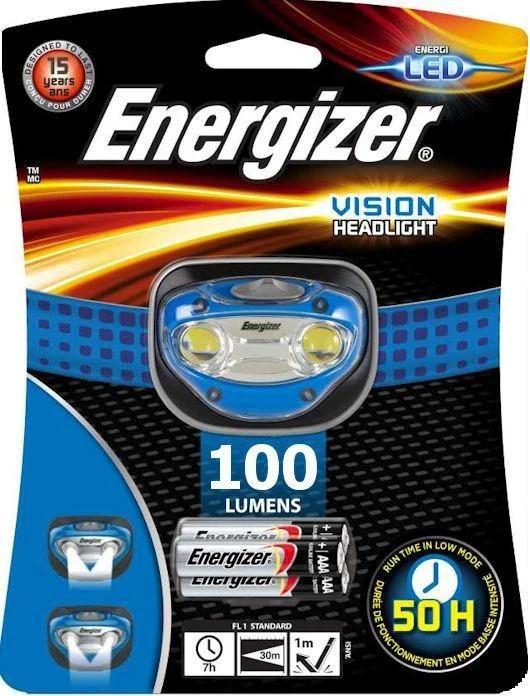 Налобный фонарик Energizer VISION LED 100 люменов фонарь