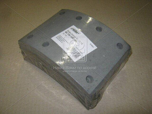 Накладка тормозная ЗИЛ 130 задний R0 12/18 сверл. | RIDER, фото 2