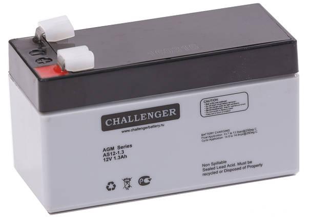 Аккумуляторная батарея Challenger AS12-1.3 (12 Вольт, 1.3 Ач), фото 2