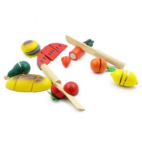 Ігровий набір з дерева Світ дерев'яних іграшок Готуємо сніданок середній (Д168)