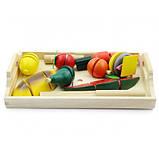 Ігровий набір з дерева Світ дерев'яних іграшок Готуємо сніданок середній (Д168), фото 2