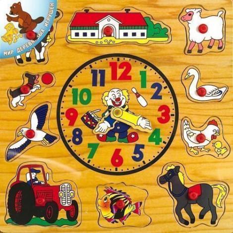 Рамка вкладиш Світ дерев'яних іграшок Годинник (Р 35)