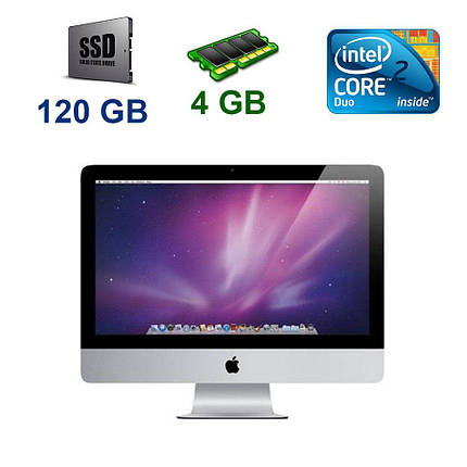 "Apple A1224 iMac 9.1 / 20"" 1680х1050 LCD / Intel Core 2 Duo P7550 (2 ядра по 2.26 GHz) / 4 GB DDR3 / 120 GB SSD / Nvidia GeForce 9400M 256 MB / Mac OS, фото 2"