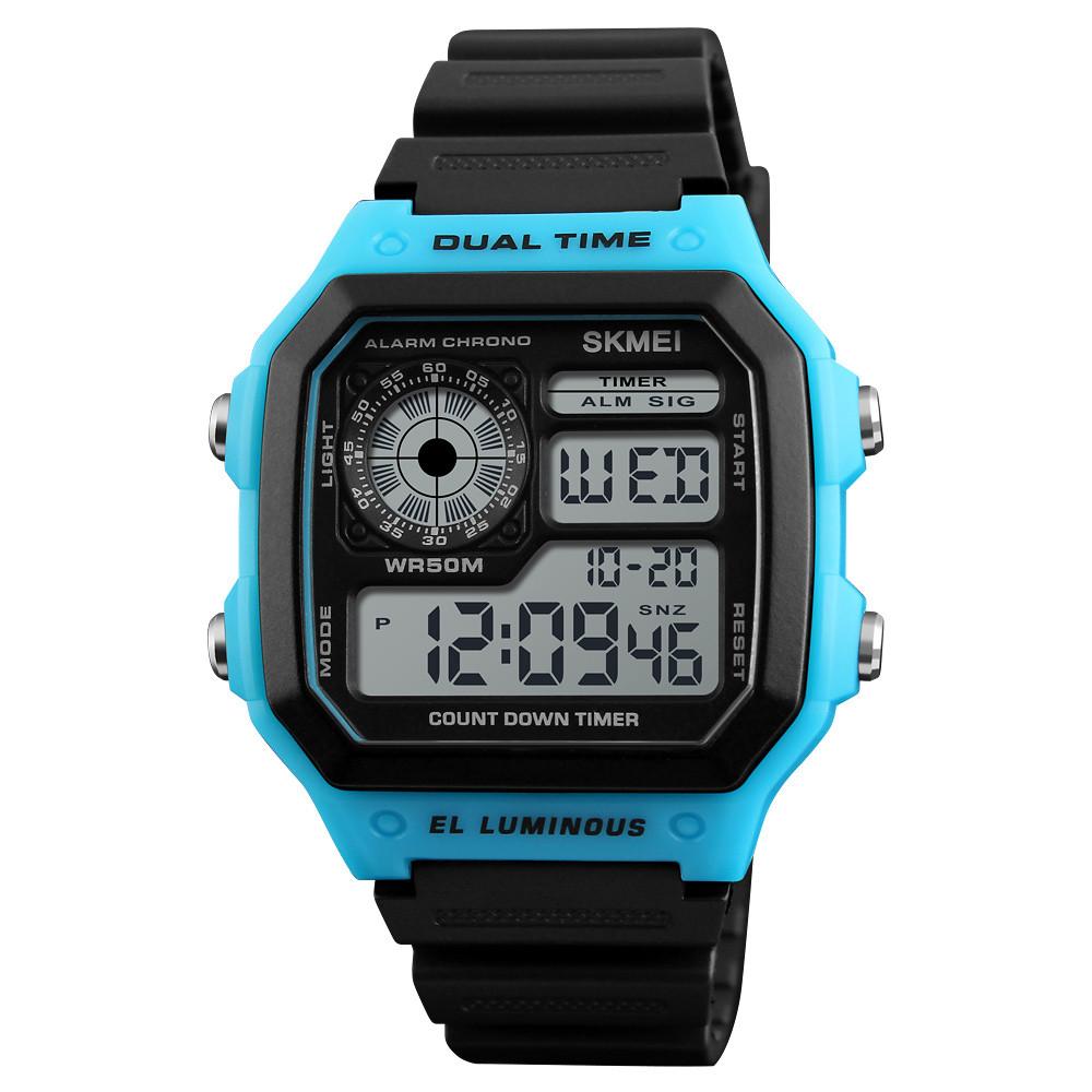 Skmei 1299 синие мужские спортивные часы