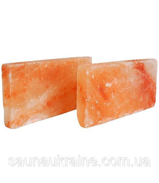 Гималайская розовая соль Плитка рванный камень 20/10/2,5 см  для бани и сауны