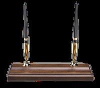 Подставка деревянная с 2-мя шариковыми ручками