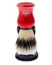 Помазок для бритья с подставкой Omega 80265 красный