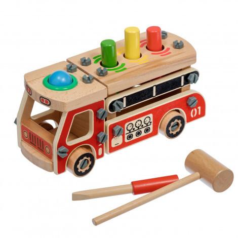 Дерев'яна яний конструктор Світ дерев'яна дерев'яних іграшок Машина (Д033)