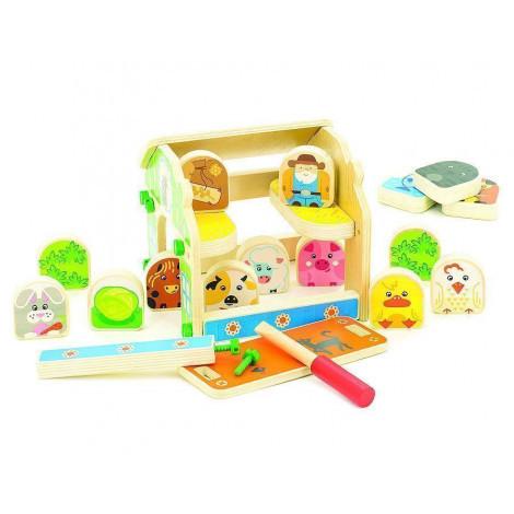 Іграшки з дерева Світ дерев'яних іграшок Дерев'яний ігровий набір Будиночок Фермера (Д432)
