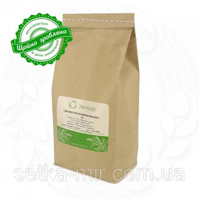 Органическая гречневая мука 1 кг сертифицированная без ГМО из цельного зерна необжаренной гречихи