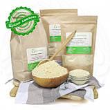 Кунжутне жорнове борошно 0.5 кг сертифіковане без ГМО виготовляють способом подрібнення макухи, фото 2