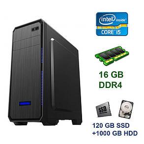 Tower / Intel Core i5-9400F (6 ядер по 2.9 - 4.1 GHz) / 16 GB DDR4 / 120 GB SSD+1000 GB HDD / nVidia GeForce GTX 1070, 8 GB GDDR5, 256-bit / 600W, фото 2