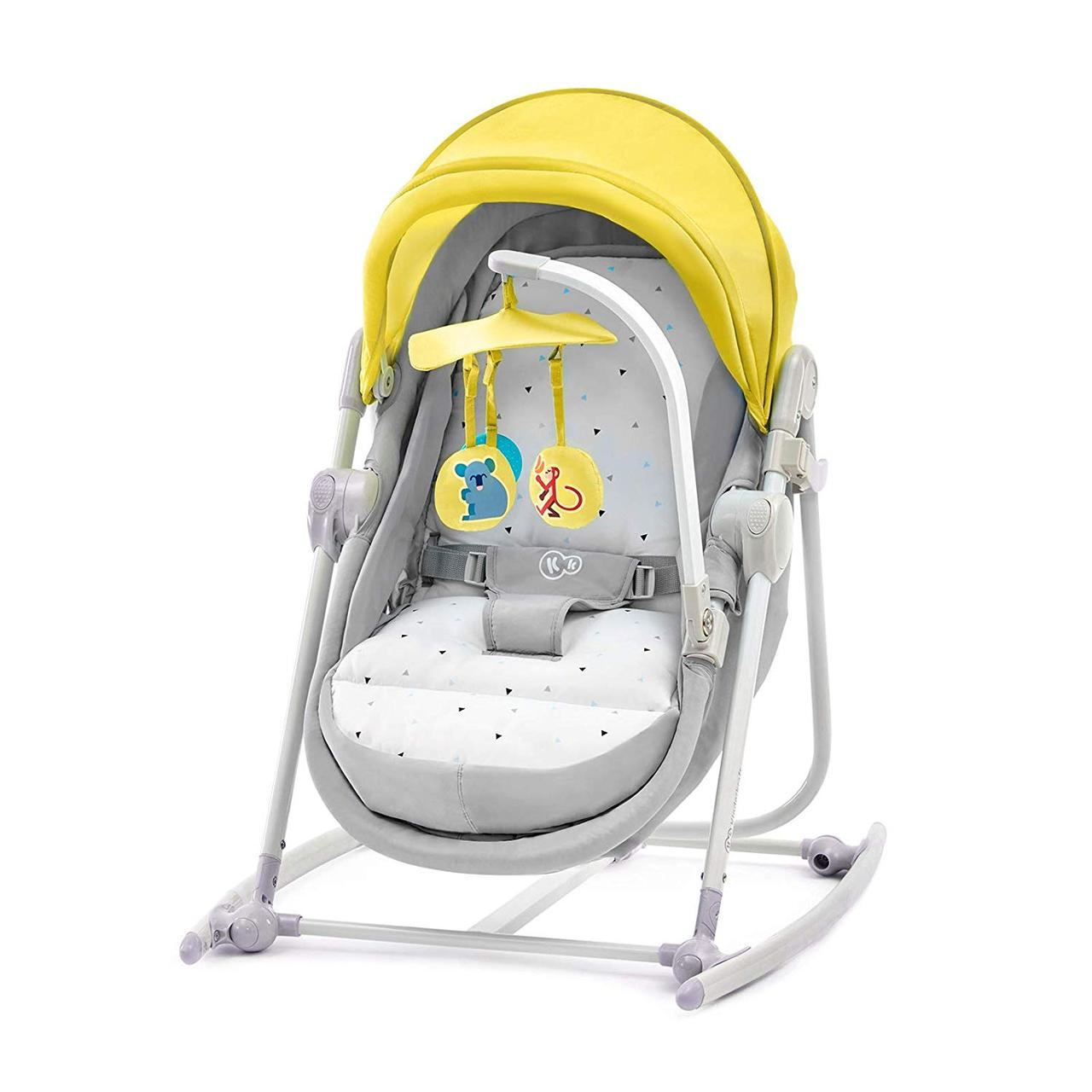 Шезлонг-качалка 5 в 1 Kinderkraft Unimo Yellow +ВИДЕО