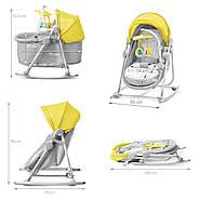 Шезлонг-качалка 5 в 1 Kinderkraft Unimo Yellow +ВИДЕО, фото 2