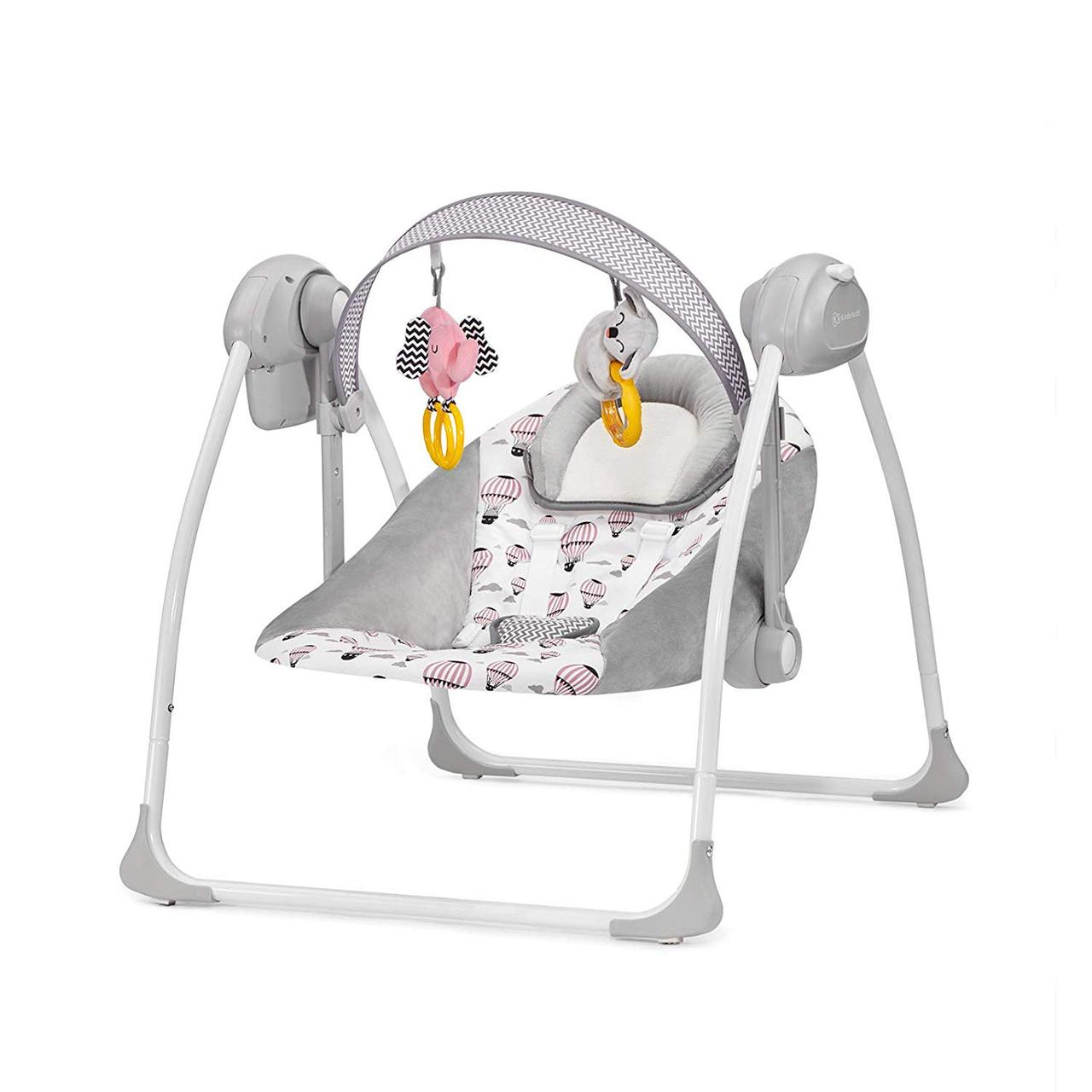 Кресло-качалка Kinderkraft Flo Pink +ВИДЕО