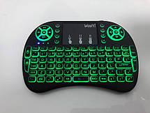 Универсальная беспроводная клавиатура с тачпадом, подсветкой и мультимедийными клавишами, фото 3