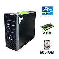 Tower / Intel Core i5-2400 (4 ядра по 3.1 - 3.4 GHz) / 8 GB DDR3 / 500 GB HDD / AMD Radeon RX 580, 4 GB GDDR5, 256-bit / 500W