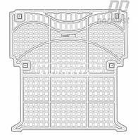 Килимок в багажник для Рено Канго 2008 -... Вантажний варіант модельний