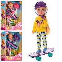 Кукла DEFA 8295 (24шт) 13,5см, скейт, шлем, 3 вида, в кор-ке, 11-15-4,5см