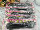 Твистер для волос поролон маленький 16.5 см черный 12 шт/уп, фото 2