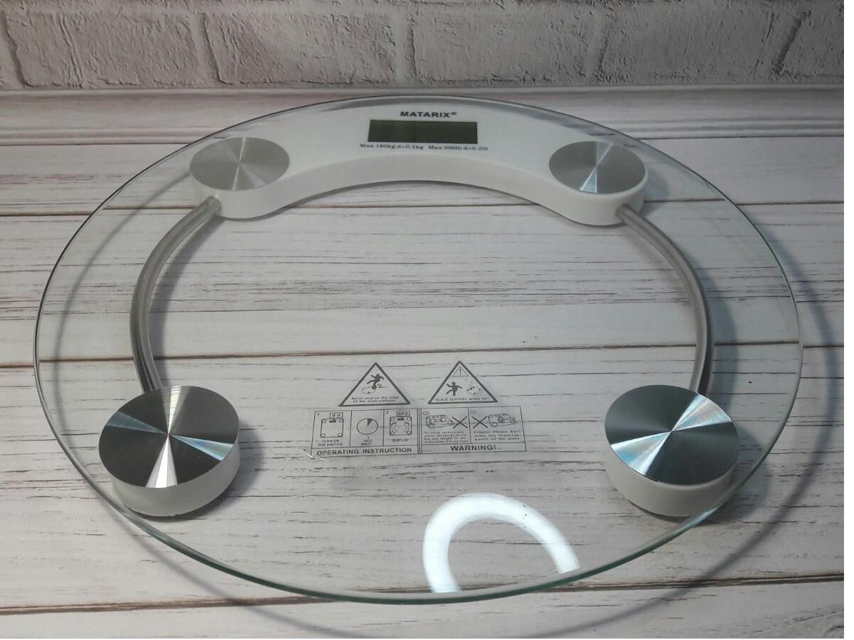 Весы напольные стеклянные Domotec MS-2003A до 180 кг с термометром