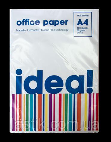 Бумага офисная, А4, 80г/м2, 100л, фото 2