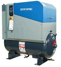 Компресори SCR 7-15 кВт (0,3-2,4 м3/хв) на ресивері, частотник, двигун на постійних магнітах