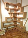 Настенные деревянные полочки в стиле лофт в ассортменте, фото 7