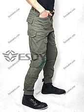 Тактические Штаны с Наколенниками ESDY TAC-02 Олива ( Весна-Лето ), фото 3
