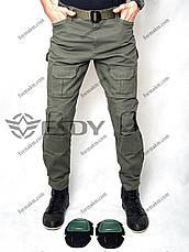 Тактические Штаны с Наколенниками ESDY TAC-02 Олива ( Весна-Лето ), фото 2