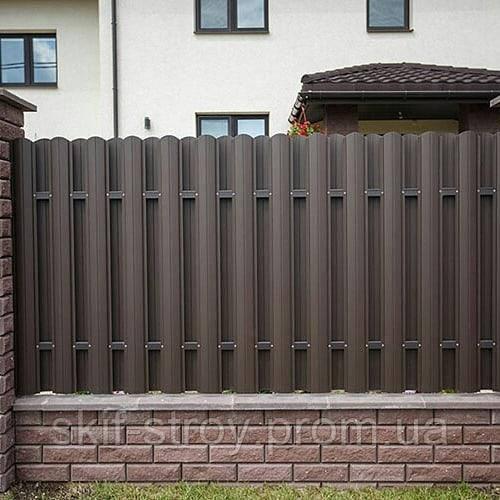 Евроштакетник металлический матовый двухсторонний 0,5мм Польша