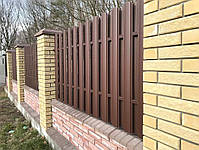 Евроштакетник металлический матовый двухсторонний 0,5мм Польша, фото 2