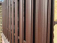 Евроштакетник металлический матовый двухсторонний 0,5мм Польша, фото 4