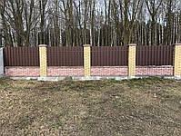 Евроштакетник металлический матовый двухсторонний 0,5мм Польша, фото 3