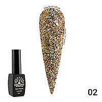 Гель лак diamond ball Global Fashion 8 ml №002