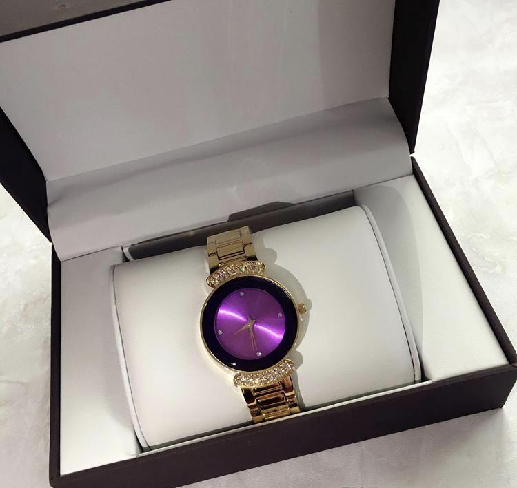 Часы с камнями Di or Shine Pink Gold реплика