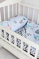 Комплект постельного белья Sweet Sleep Панды с шариками 110х140
