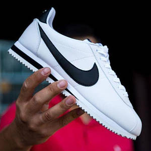 Мужские кроссовки Nike Cortez Classic Leather White/Black
