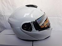Шлем трансформер модуляр Білий глянец
