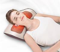 Массажер для шеи и спины Jinkairui R7 Массажная подушка (6 кнопок 16 пальцев)