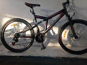 """Велосипед горный двухподвесный Dinamic 26"""", рама 18,5"""", FRD BLACK-RED, фото 2"""