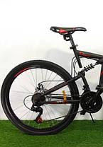 """Велосипед горный двухподвесный Dinamic 26"""", рама 18,5"""", FRD BLACK-RED, фото 3"""