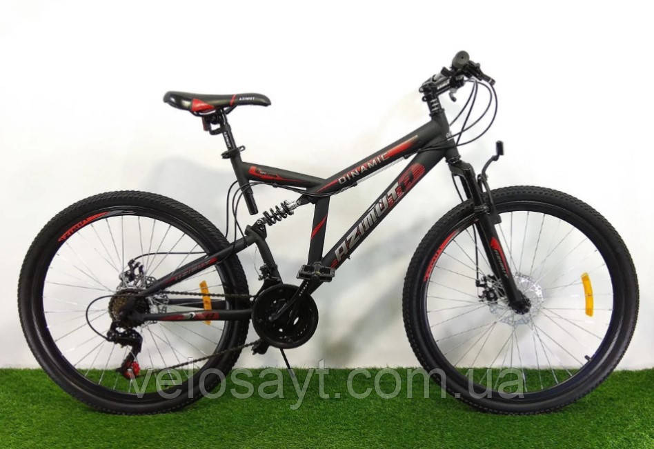 """Велосипед горный двухподвесный Dinamic 26"""", рама 18,5"""", FRD BLACK-RED"""