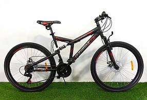"""Велосипед гірський двопідвісний Dinamic 26"""", рама 18,5"""", FRD BLACK-RED"""