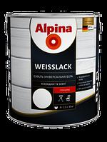 Эмаль универсальная усиленная полиуретаном для дерева и металла Alpina Weisslack, 2,5 кг