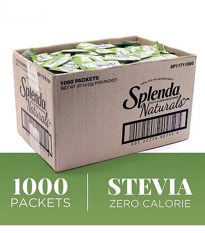 Найсмачніша стевія натуральний цукрозамінник 2 кг 1000 стіків, фото 2